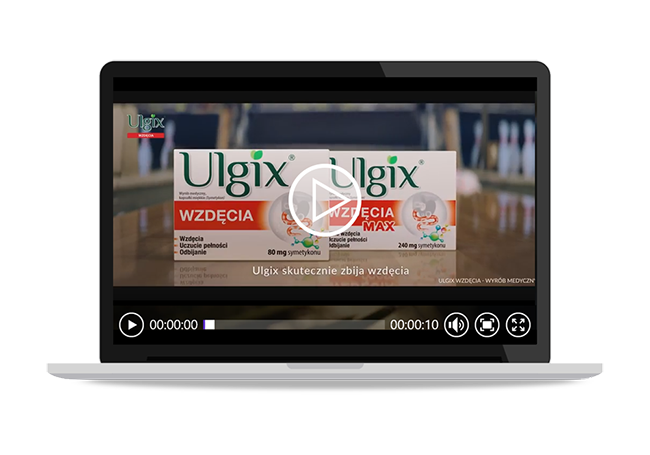 Reklama Ulgix Wzdęcia i Ulgix Wzdęcia Max